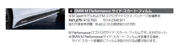 BMWサイドスカートフィルム