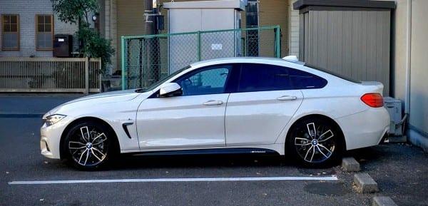 【売ります】BMW4シリーズグランクーペに装着していたF3X系ツートンカラーの18インチホイール&スタッドレスタイヤセット!