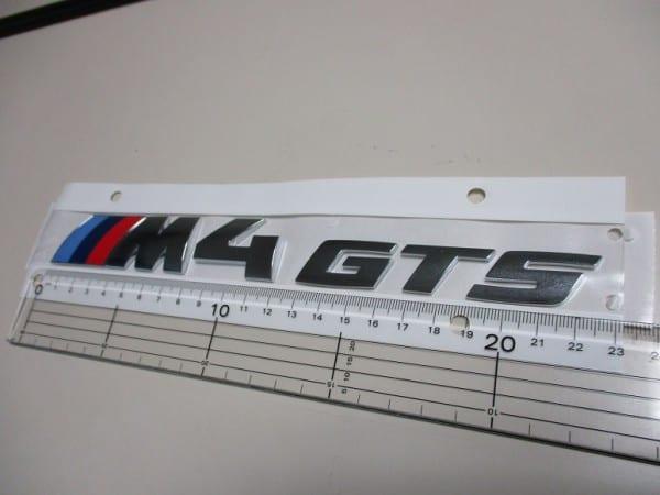 ドイツオーダーの純正BMW M4 GTSトランクエンブレム販売中^^;