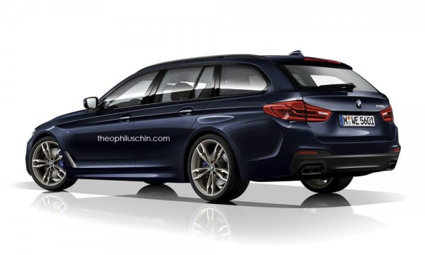 BMW新型5シリーズツーリング(G31)の最新レンダリング画像♪