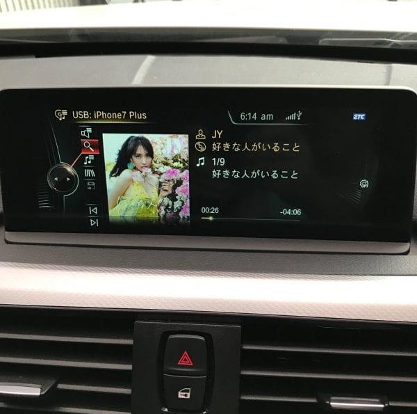 スマホ(iPhone7Plus)の音楽をMy420iグランクーペ(BMW F36)の車内で聞くにはUSB接続が良さそうですね♪