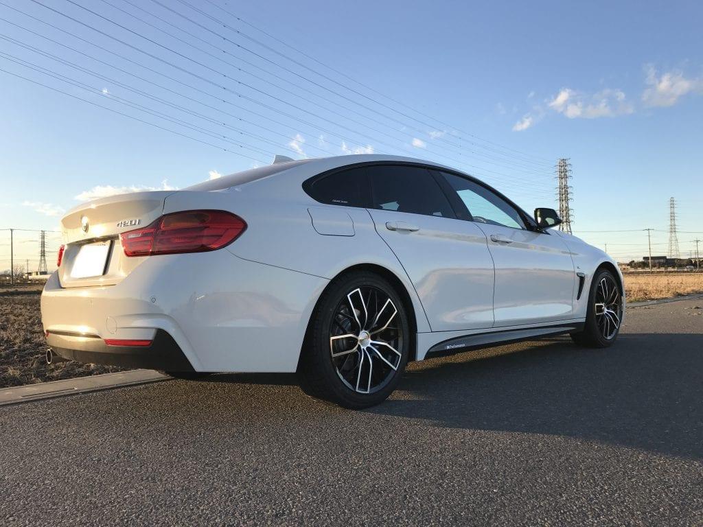 BMW4シリーズグランクーペの冬支度スタッドレスタイヤに交換しました:交換作業編