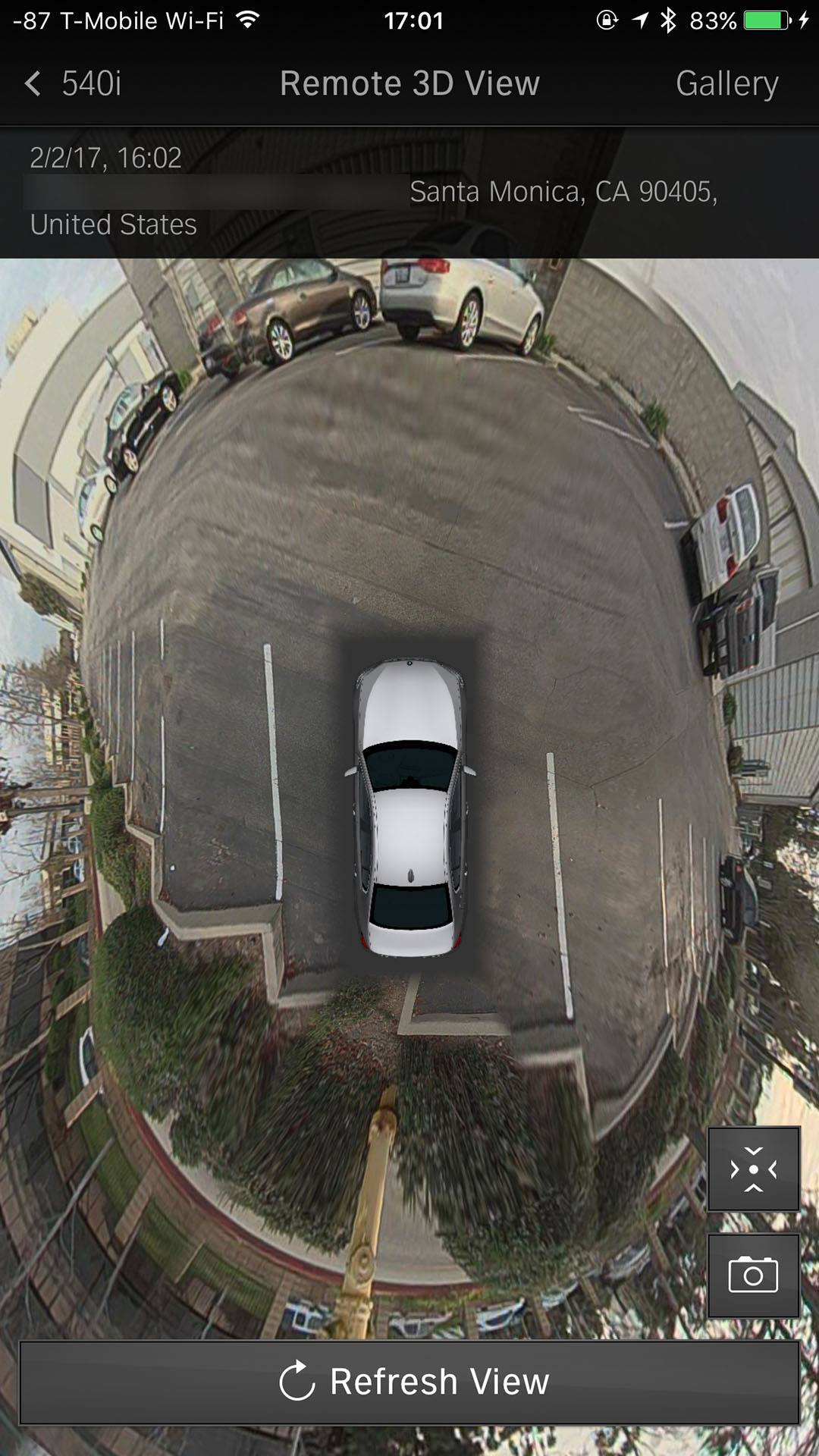 BMW新型5シリーズ対応Remote 3D Viewサポート(BMW Connectedアプリ)が開始!!360度画像が凄い^^