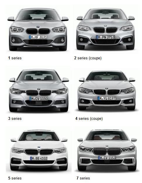 BMWのフロントフェイスに規則性!?シリーズの数字が大きくなるごとに連続した変化が!皆さん分かりますか?