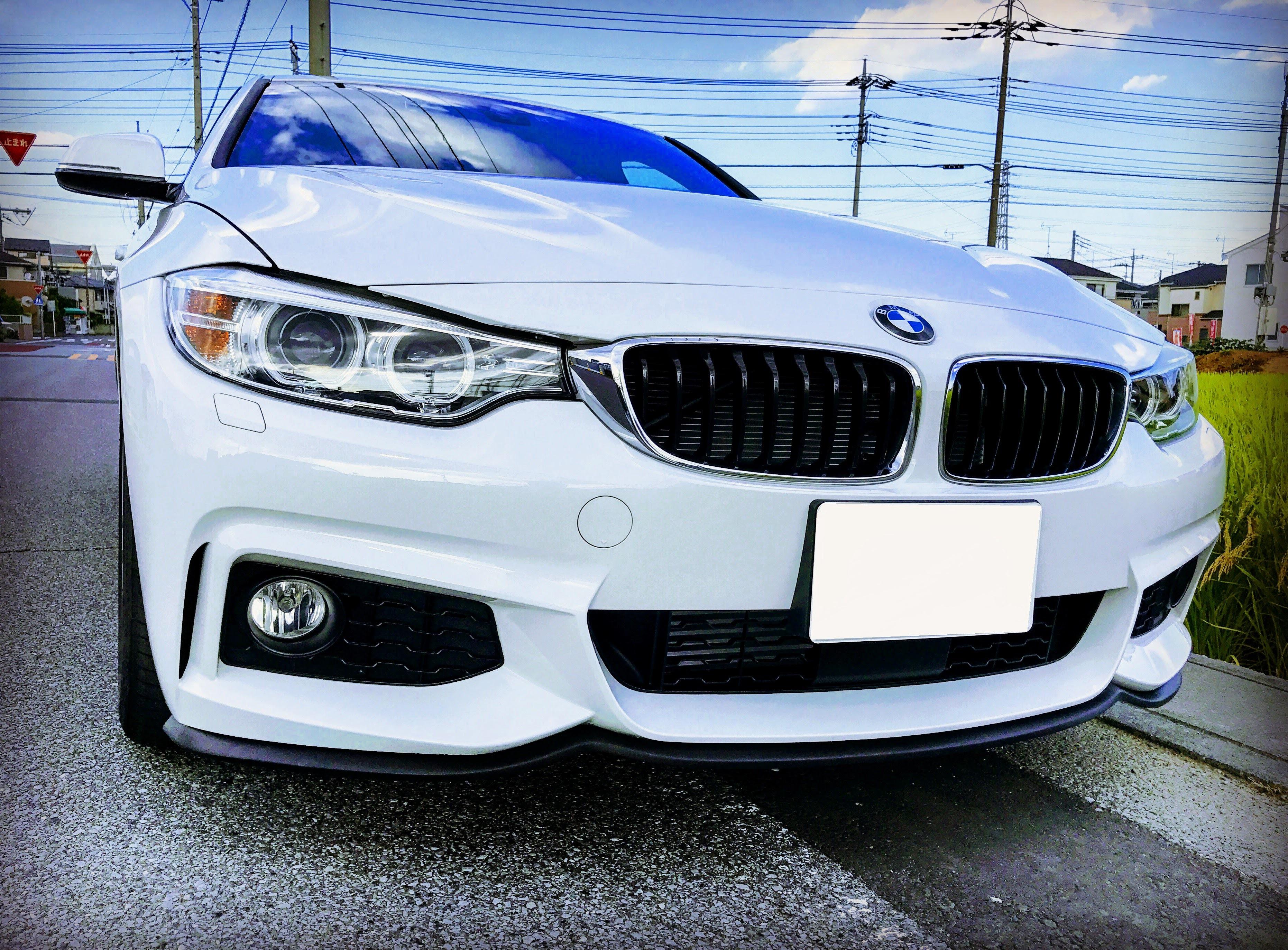 BMW4シリーズグランクーペにお手軽リップスポイラーEZ Lip【イージーリップ】を装着してみました♪
