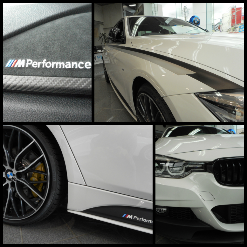 200万相当のM Performanceのオプションが17も装備されている走行200kmのBMW3シリーズ318i M sportが販売中!!