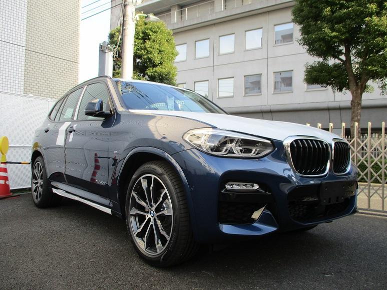 新型BMW X3がディーラーに展示車・試乗車として入庫開始^^BMW東京Bayでは試乗車が既に配置済み♪