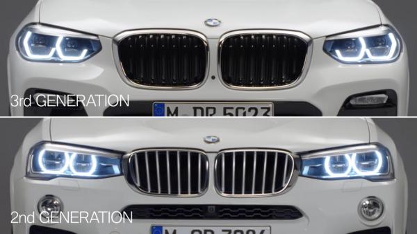 BMW先代X3と新型X3の写真を並べて違いをじっくり比較^^