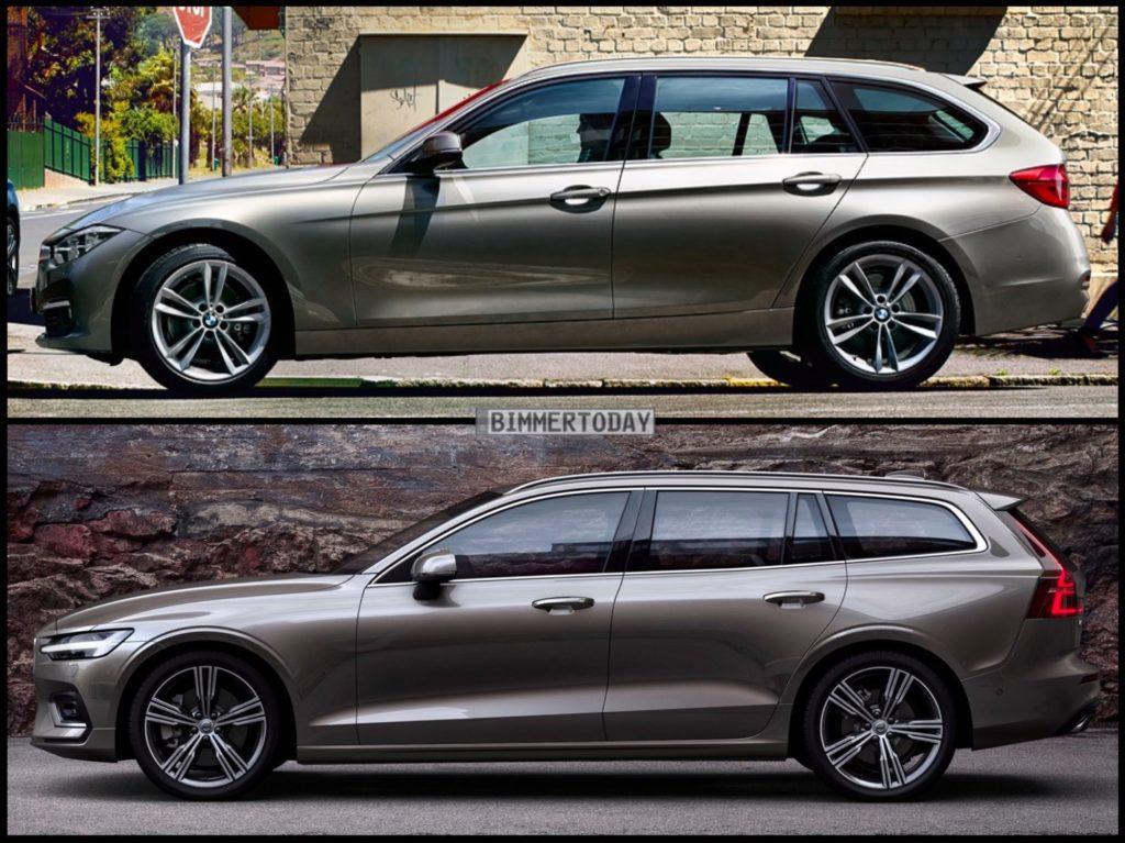 ボルボ新型V60ステーションワゴンとBMW3シリーズツーリング(F31)の比較画像!最近のVOVLO車の質感向上レベルはヤバイですね^^;