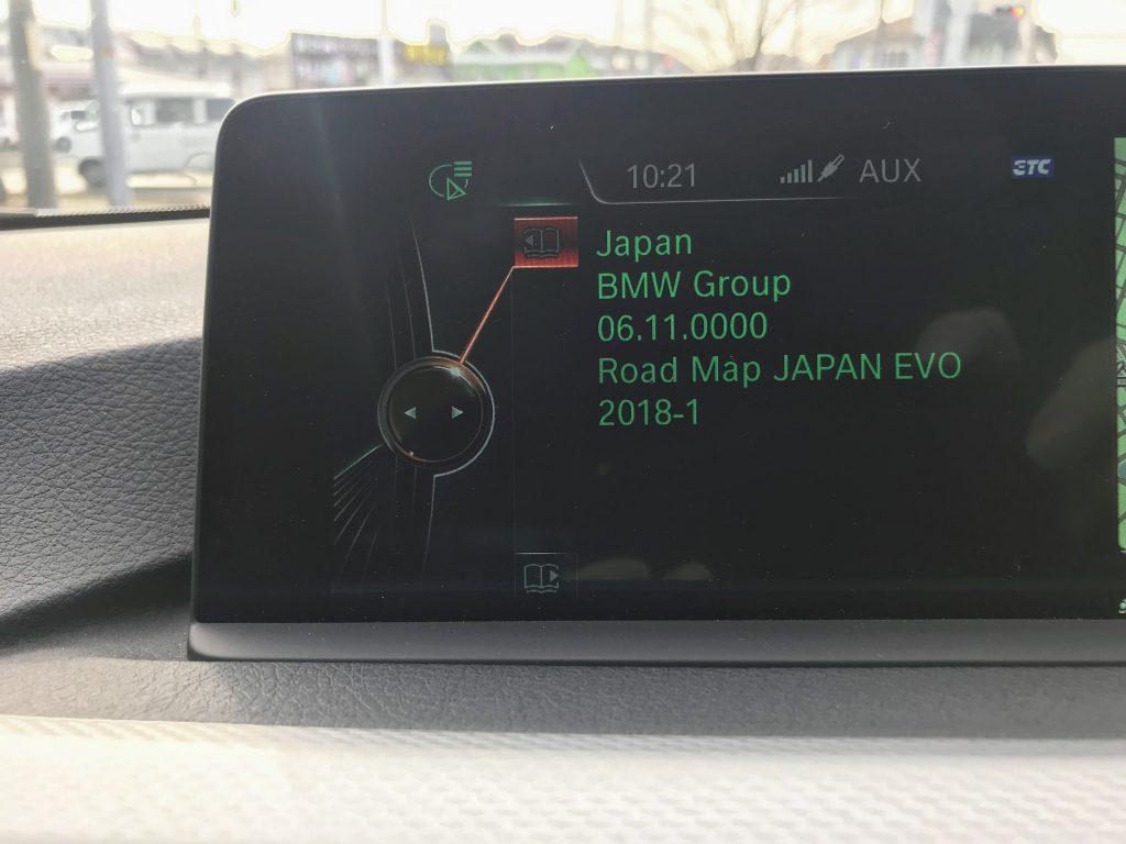 BMW iDriveナビデータUSB更新「Road Map JAPAN EVO 2018-1」がようやく完了しました^^