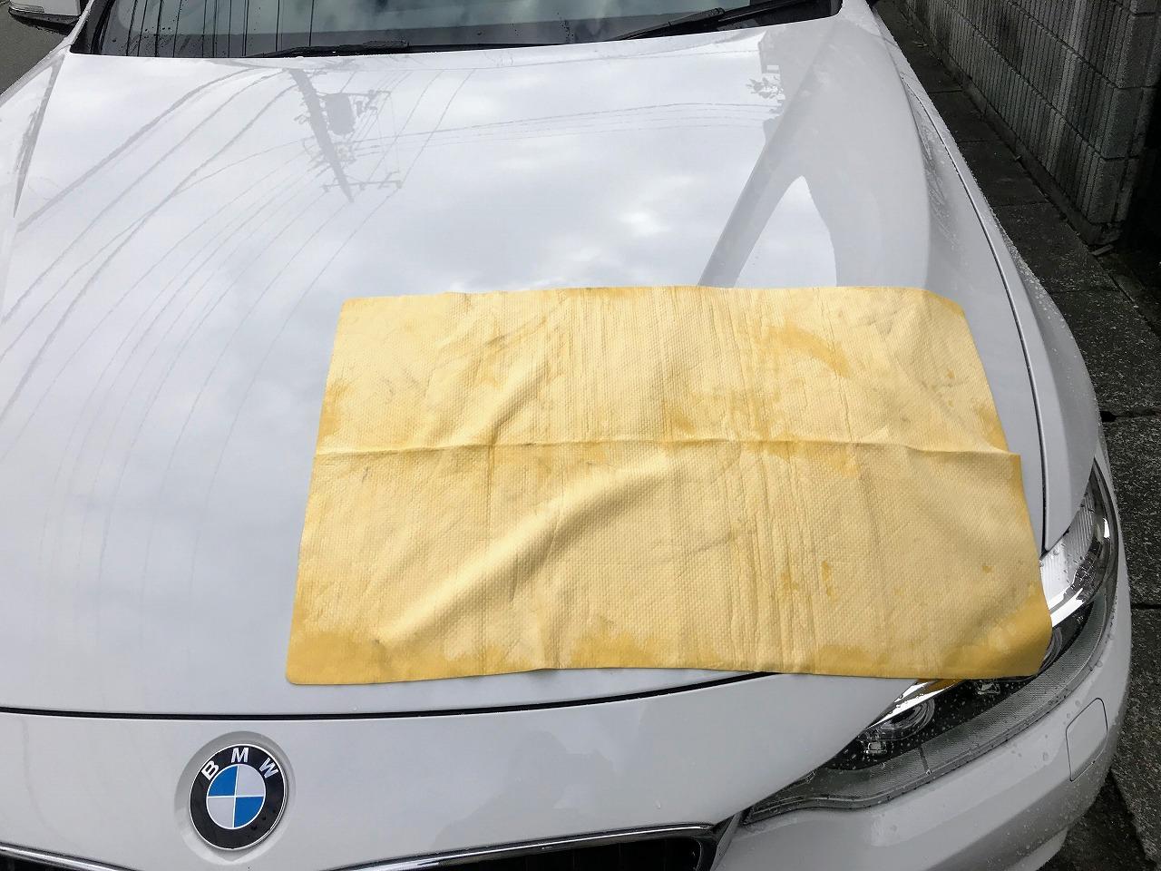 吸水性が段違い!洗車後の拭き取りが楽しくなる「アイオン(AION) プラスセーヌ L」人工合成セーム拭き取りクロス♪