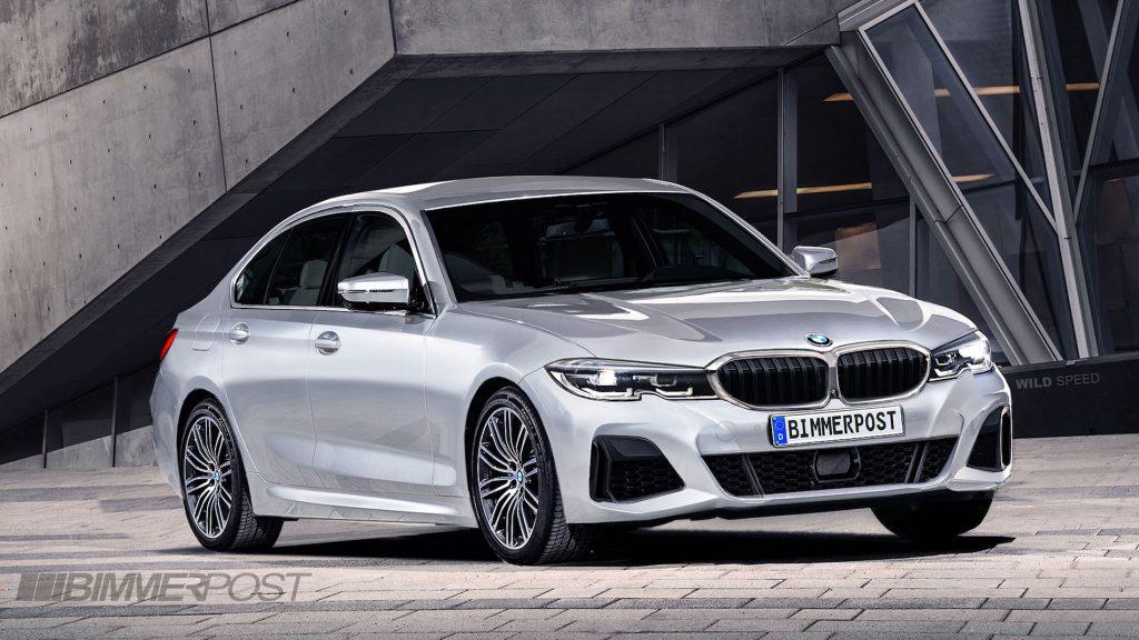 カモフラ柄のスパイショットから生成された最新の次期BMW3シリーズ(G20)のレンダリング画像!!新型3シリーズのデザインはやはり5シリーズ似!?