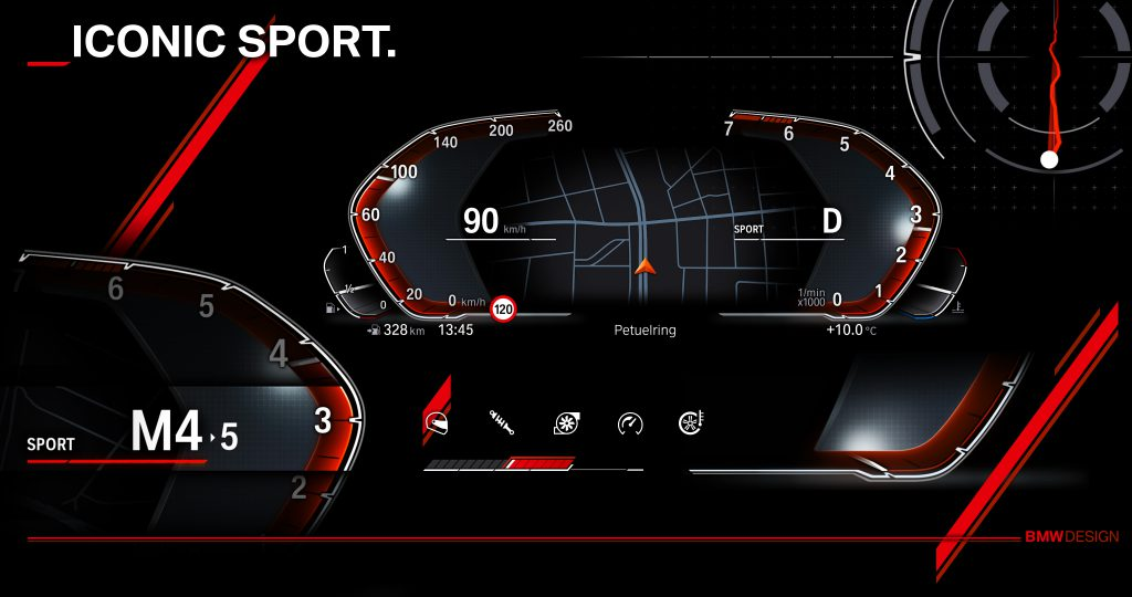 BMWのメーターパネルに地図が!次世代デジタルコクピットのプレビュー画像が公開されました!次期3シリーズや8シリーズ、新型X5でデビュー予定!?