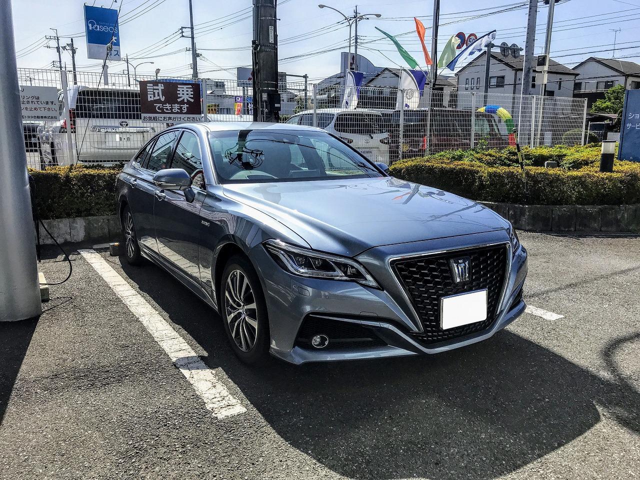 【試乗レポート】トヨタ新型クラウン見て、試乗して、見積もりしてきました^^ハイブリット2.5G試乗編♪