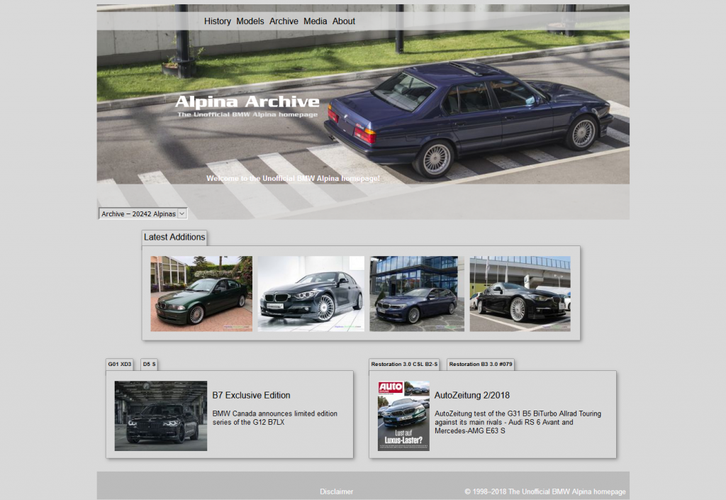 世界中で登録されたアルピナ車の外装・内装写真や情報をシリアルアンバー毎に見られる「Alpina-Archive」が凄い!!