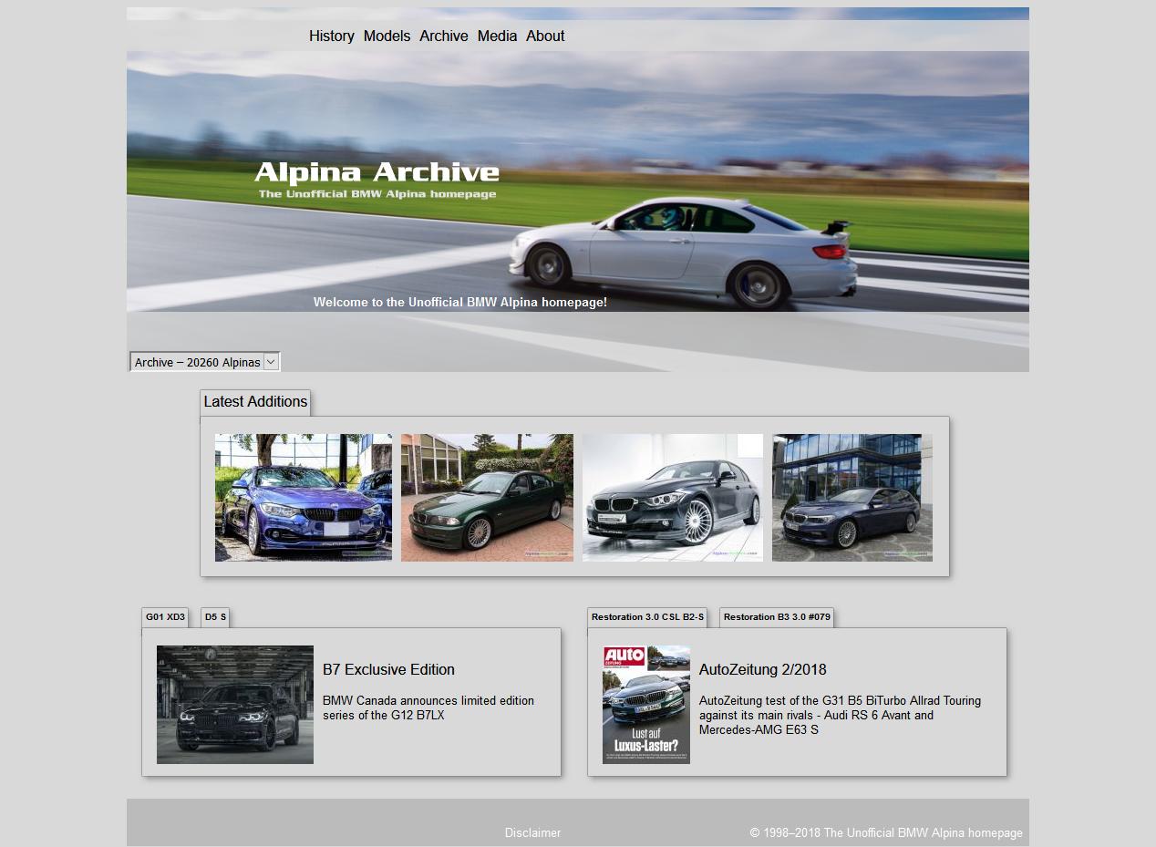 世界中のアルピナ車が登録されている「Alpina-Archive」に愛車D4を追加してもらいました^^