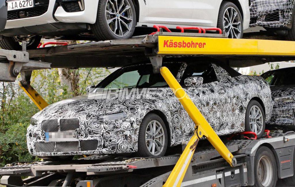 次期BMW4シリーズ初のスパイショット!新型4シリーズカブリオレ(G23)のプロトタイプか!?