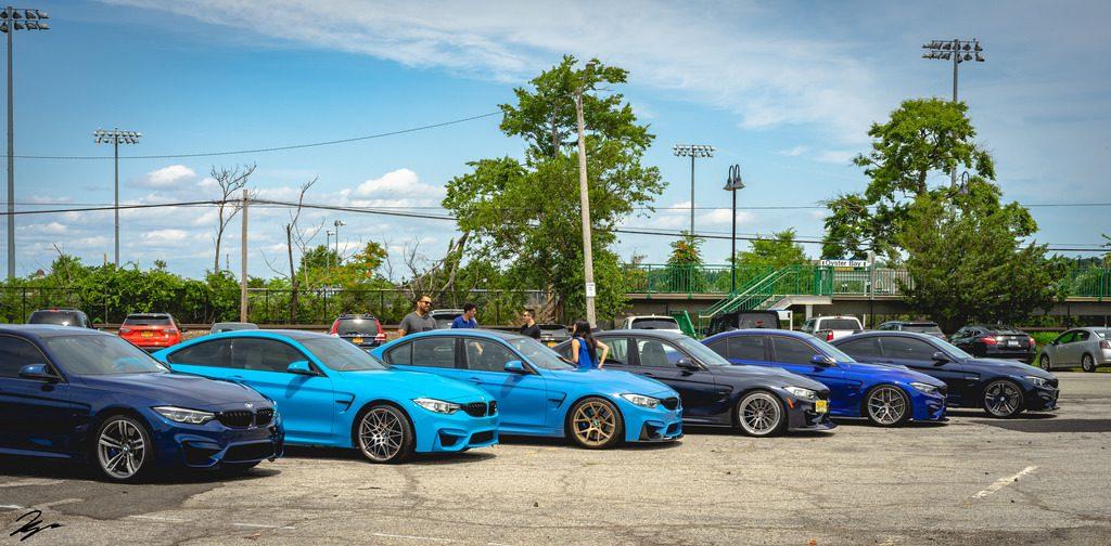 豪華6色のブルーのボディカラーのBMW M3,M4(F80,F82)が勢揃い!どの色が好みですか?