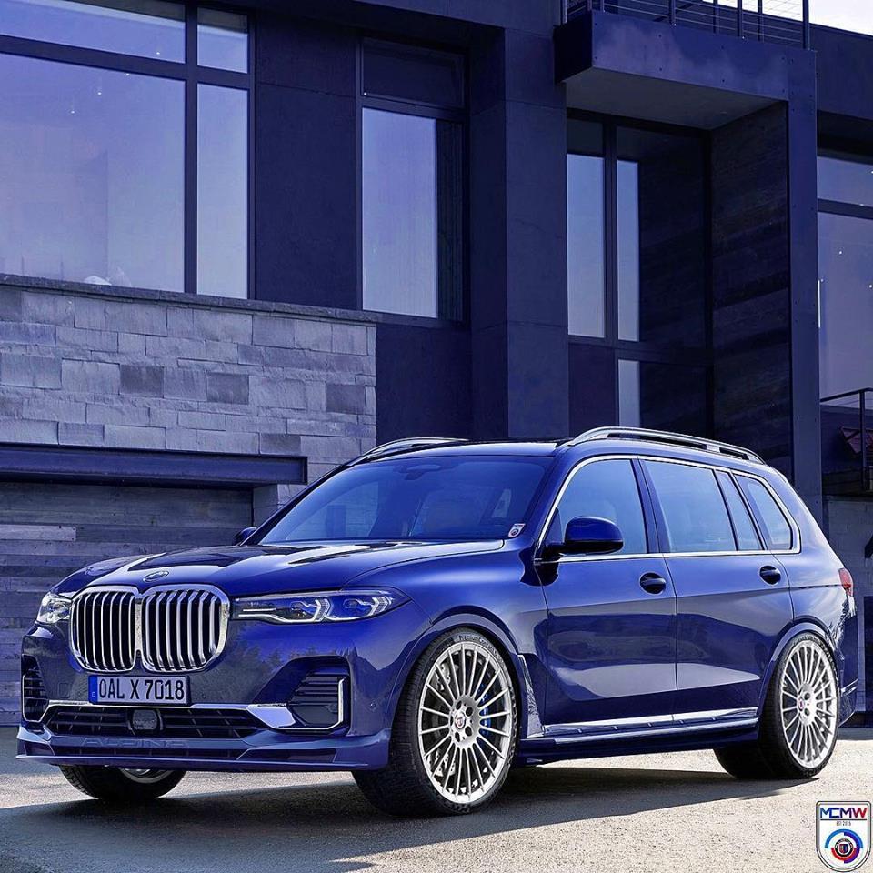 全幅2mのBMW最大SUV「X7」発表!アルピナX7のCG画像など