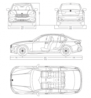 BMW新型3シリーズ(G20)は全幅サイズ拡大で1800mmオーバー!日本仕様は1800mm以内にするのは厳しそうかも。。