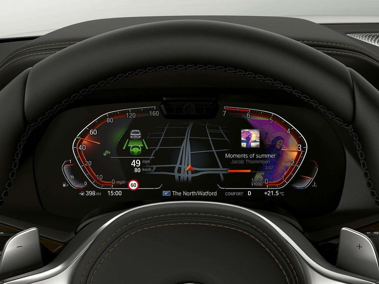 BMWがパリモーターショーで公開される新型3シリーズ、X5、Z4、8シリーズに搭載される「BMWオペレーティングシステム7.0」のハイライト画像を公開!