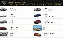 今年の日本カーオブザイヤー27エントリーから10ベストカーが決定!最終結果を予想してみる
