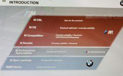 BMW Mモデルのグレード構成のラインナップのスライドが分かりやすい^^CSLが復活!?