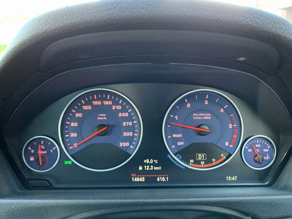 BMW ALPINA D4 Bi-Turbo Coupéの実燃費レポート!