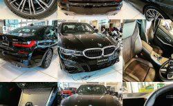 日本最速!?サファイア・ブラック・メタリックのBMW新型3シリーズ(G20)320i Mスポーツの展示車を見てきました^^ブラックの引き締まったボディがかっこよかったです♪
