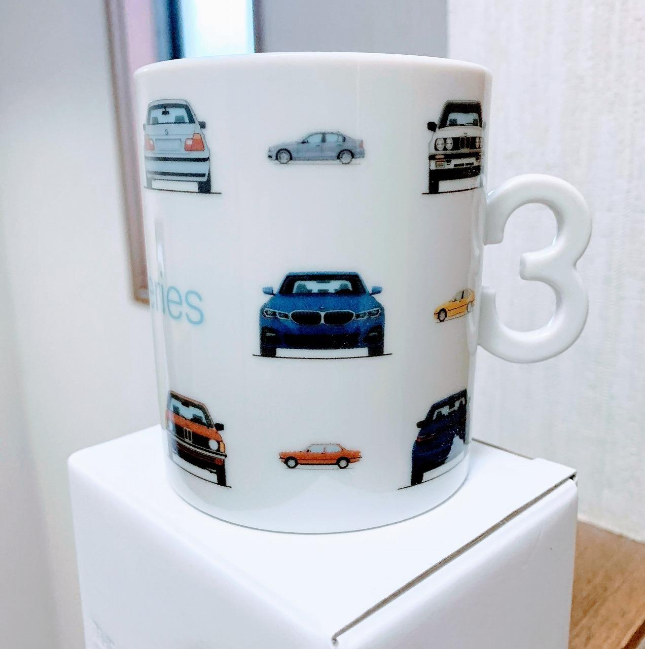 「BMW3シリーズ・オリジナル・マグカップ」を頂きました^^【新型3シリーズ(G20)商談記念品(ノベルティ)】