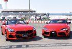 先週末お台場のモータスポーツフェスティバルで真っ赤なBMW新型Z4とトヨタGRスープラの共演が実現!