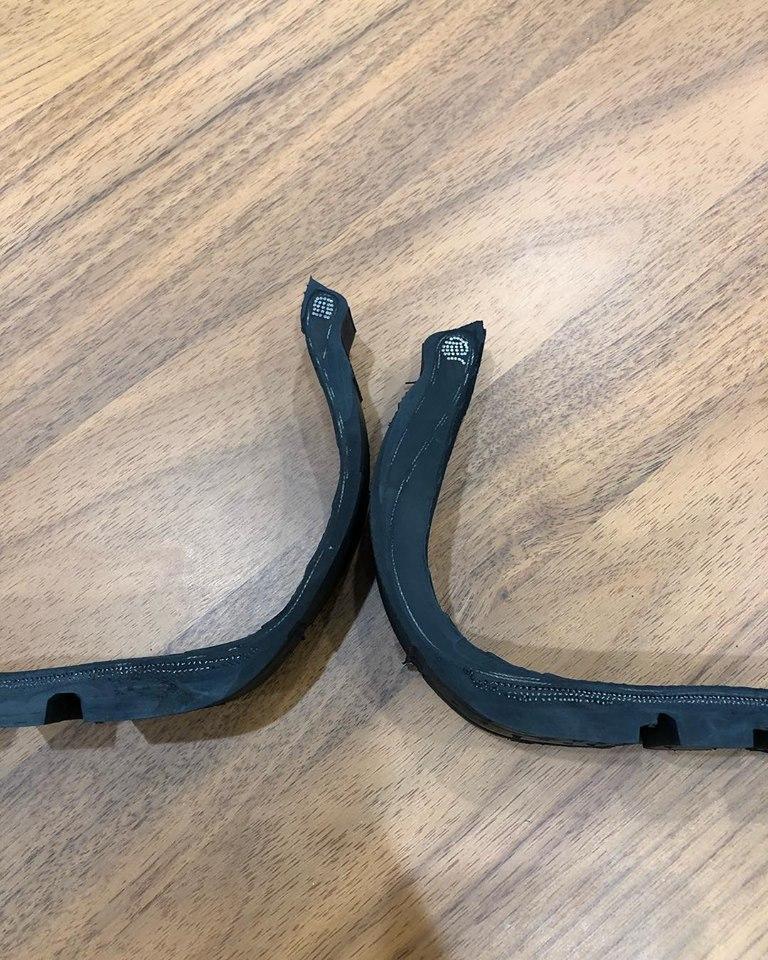 BMWのランフラットタイヤの安心感^^ノーマルタイヤとのサイドウォールの厚みの比較画像がわかり易い♪