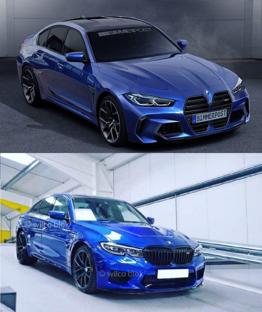 BMW新型M3(G80)の予想CGやリーク画像が!?正統派or過激派どちらが好みですか?^^;
