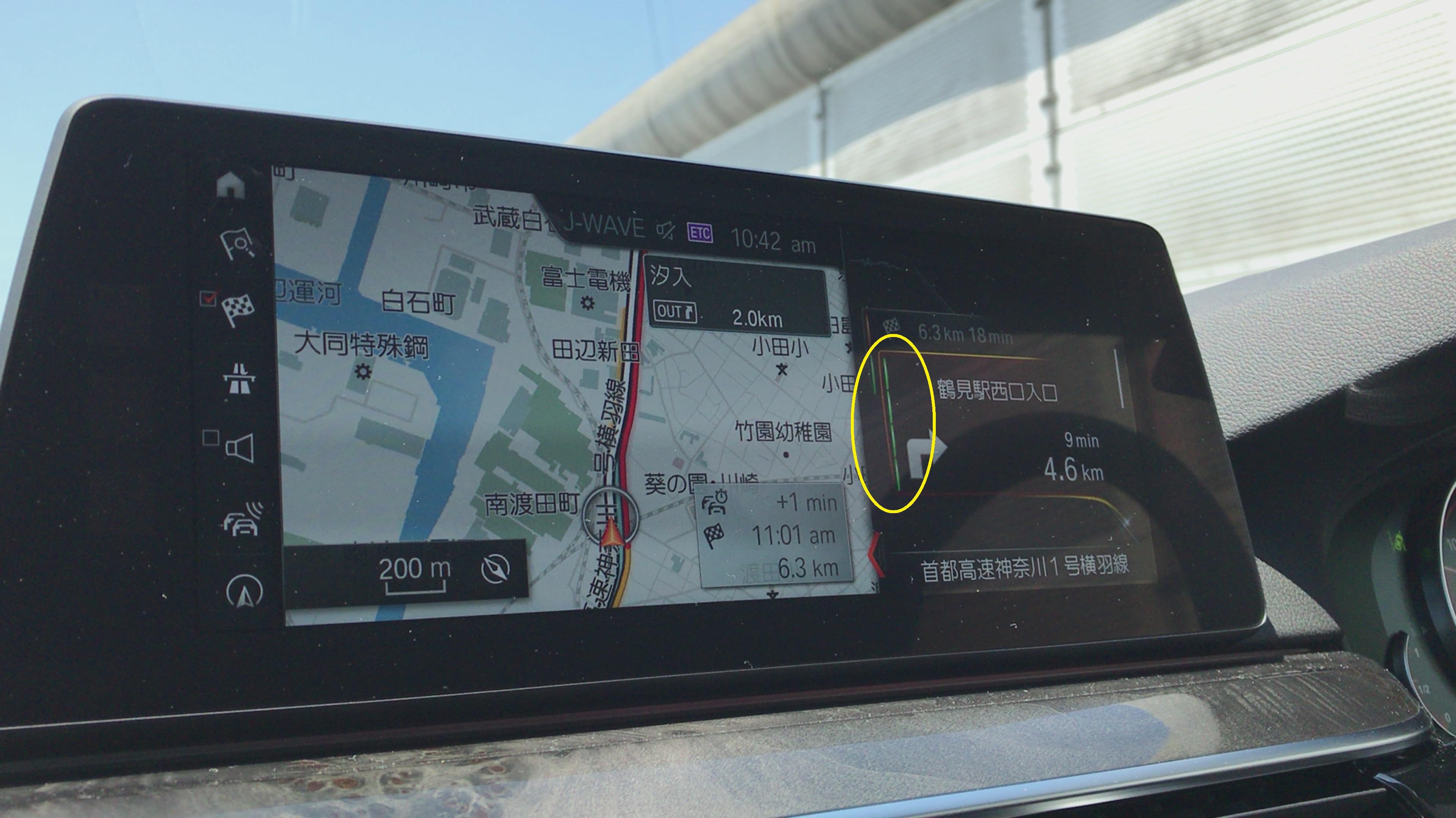 BMW iDriveナビのハイウェイモードの略図が無くなって矢印表示になって劣化してる件^^;