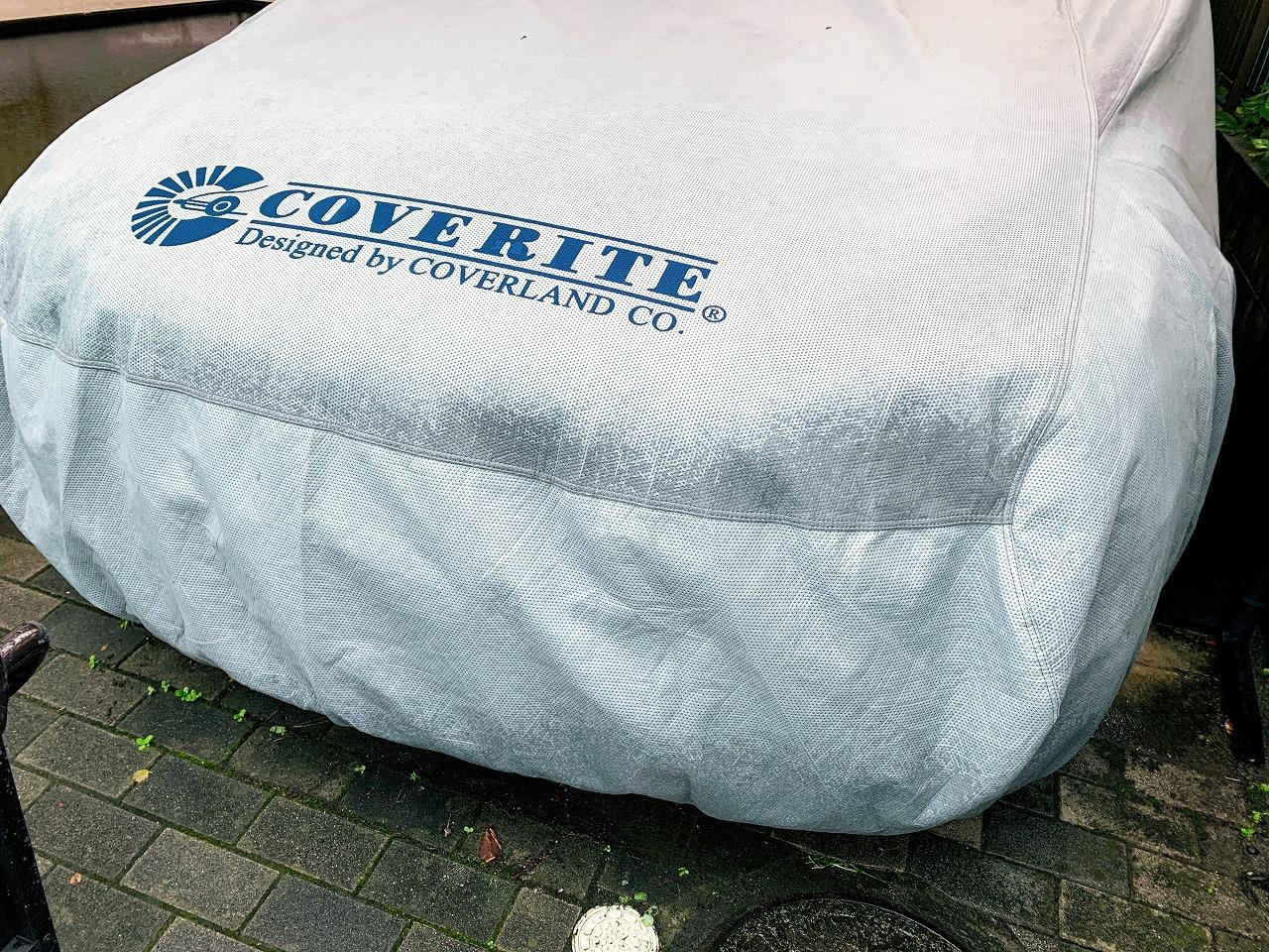 首都圏直撃の台風15号もCOVERLANDのボディカバーのおかげで愛車BMW G31は無事でした^^