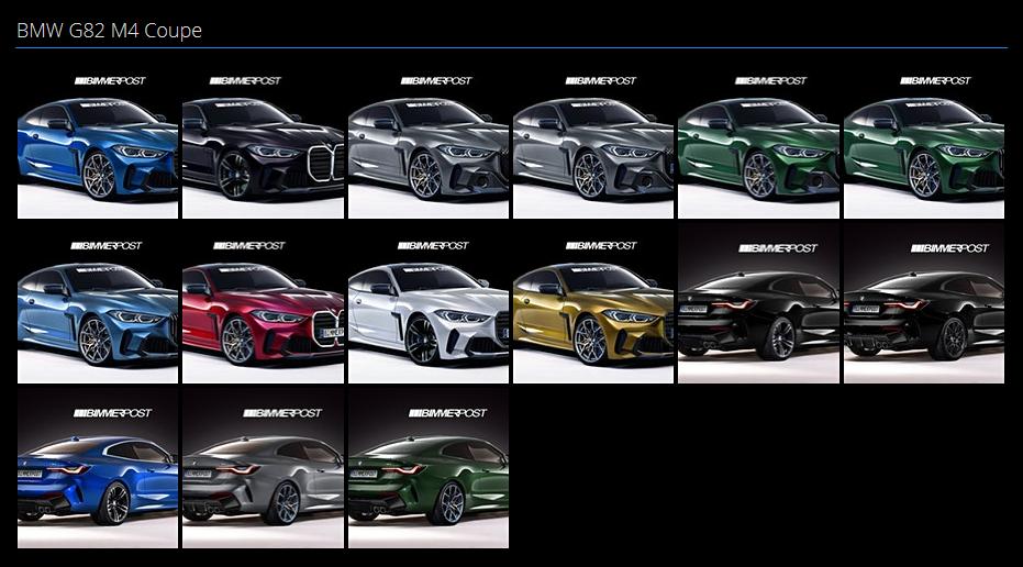 BMW新型M4クーペ(G82)とM4コンバーチブル(G83)の最新のデジタルCGプレビュー画像!!