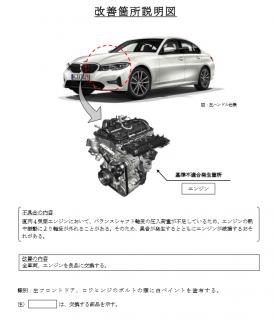 BMW新型3シリーズ320i,330i5シリーズ,Z4,スープラなど直4エンジン交換の少数リコール届出!【2018年08月23日~2019年05月31日生産車両】