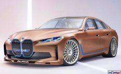 BMW i4 conceptのアルピナ版やキドニー・グリルを小さくしたCG画像が素敵です^^