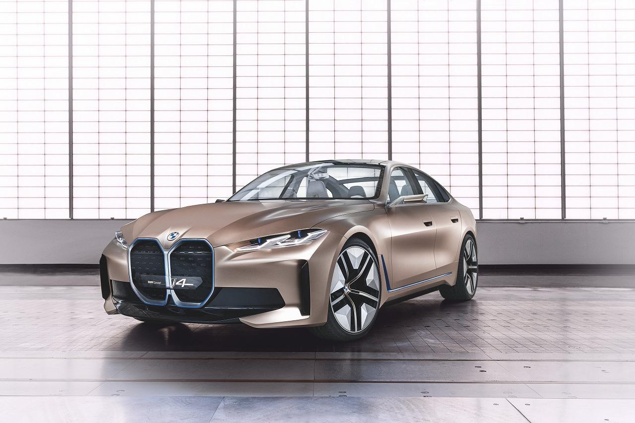 EVグランクーペ「BMW Concept i4」発表!1回の充電で最大600kmまで走行可能!!
