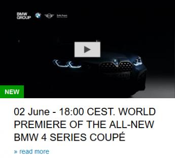 BMW 4シリーズクーペG22が6/2ワールドプレミア!!ティザー画像で巨大キドニーグリルがくっきり見えました^^;