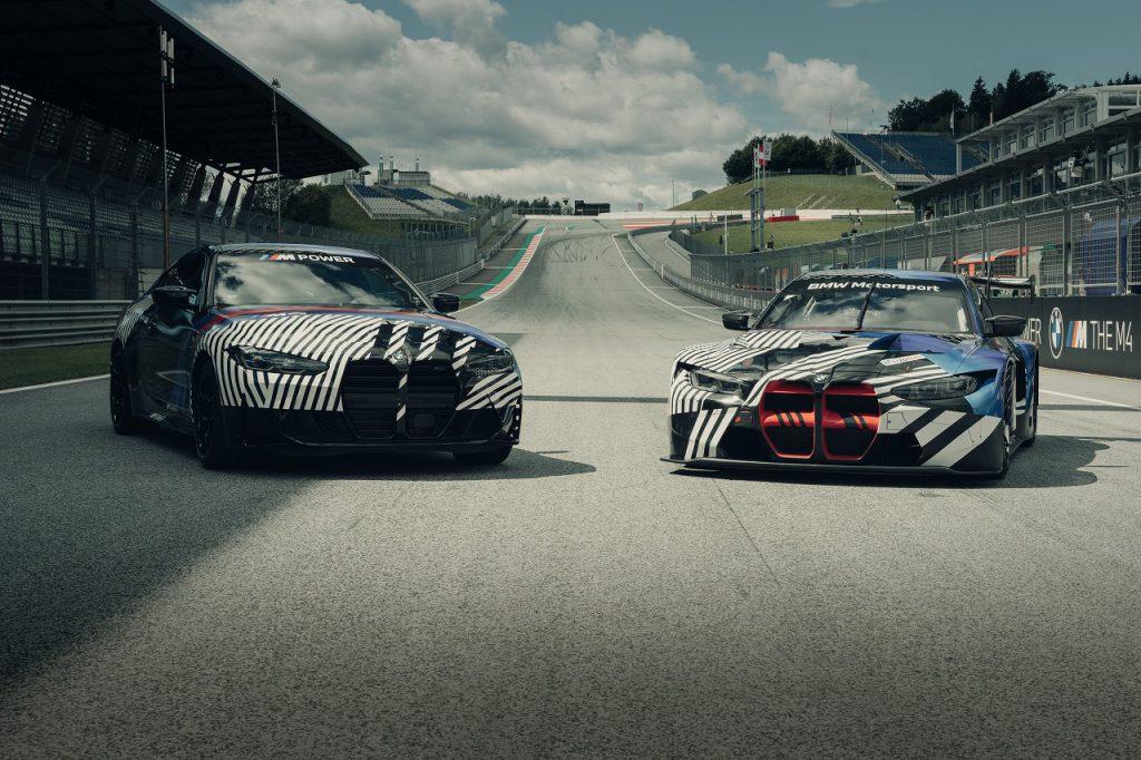 BMW次期M4(G82)フロントほぼ偽装なしの写真をBMW公式が公開!BMW M4 GT3も♪
