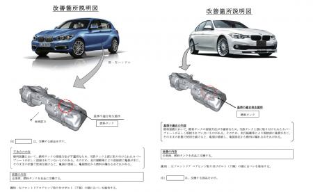 燃料タンク漏れで「BMW1,2,3,4シリーズ・アルピナB3,B4」など5万台をリコール!旧愛車4GCも対象でした^^;