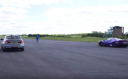 BMW M5コンペ(800HP) vs フェラーリ488Pista(720HP)のドラッグレース!勝敗は?コンフォートモードでも対決w