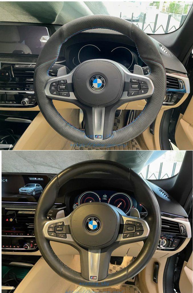 【取り付けパーツレビュー】BMW G31にコスパ抜群のMEWANTレザーステアリングカバーをDIYで装着しました^^
