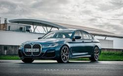 BMW5シリーズLCI(G30)に新型4シリーズの巨大キドニーグリルバージョンのCG画像!実現しなくてよかった(^_^;)