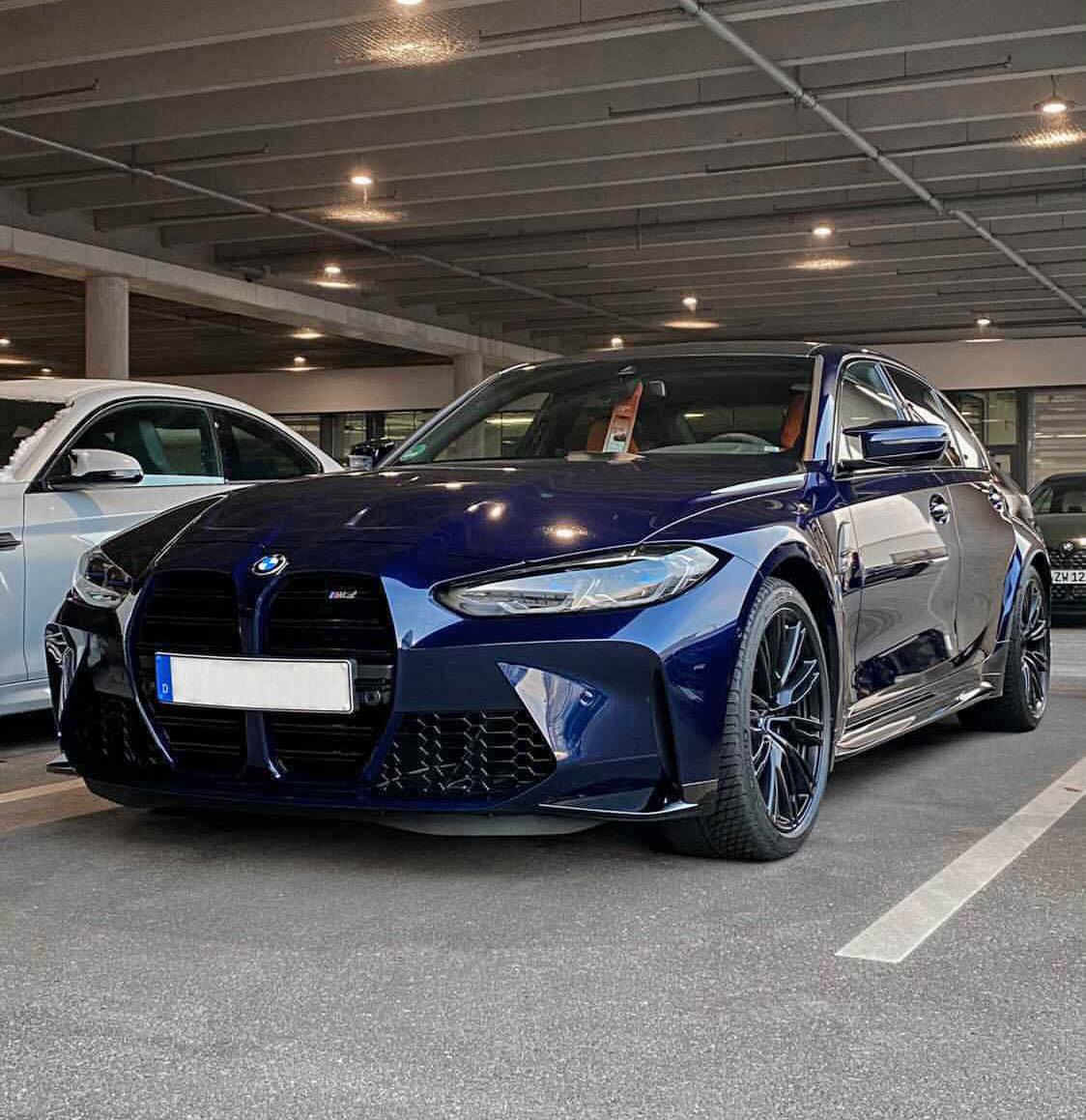 タンザナイトブルーのBMW新型M3コンペティション(G80)がM3ベストカラーかも^^