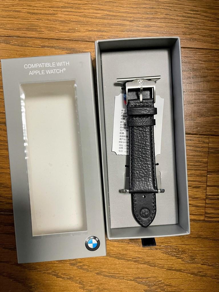 BMW純正AppleWatchベルト(Mロゴブラックレザー)が届きました(^^)開封レビュー!