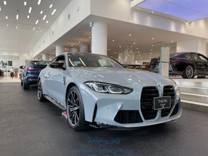 待望の新型BMW M4クーペ(G82)の実車を拝見(^^)「ブルックリン・グレー」の展示車はカッコよすぎ!!