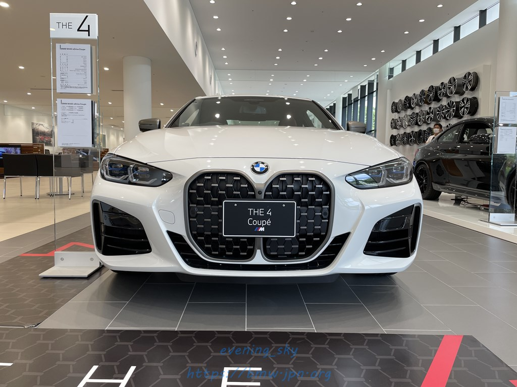 展示車紹介最終回はアルピン・ホワイトな新型BMW4シリーズクーペG22「BMW M440i xDrive」\(^o^)/