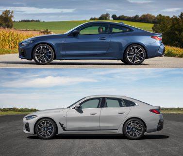 新型BMW4シリーズグランクーペ(G26)と4シリーズクーペ(G22)のデザインを写真を並べて比較してみた!